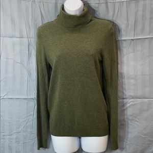 J. Crew green turtle neck sweater size small